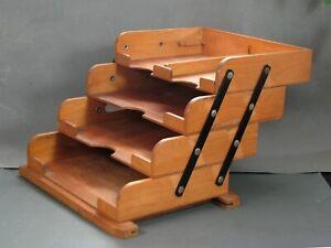 FORTSCHRITT 4er Dokumentenablage Kontor Art Deco Ablagenetagere Din A4 um 1930