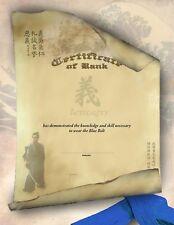 Martial Arts Certificates - Bushido Design/Karate Rank Certificates - Pack of 10