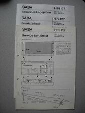 SABA HiFi-Studio 8070 Stereo K Service Manual