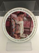 """Christmas Blessing By Kathy Lawrence Made In Japan Porcelain Keepsake 6 1/2"""""""