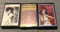 Diana Ross Cassette Bundle Tapes X 3 Vintage Rare Swept Away, Portrait, Music