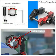 Pair Aluminum Alloy Motorcycles ATV Fixed Headlight Bracket Expansion Lever 32mm