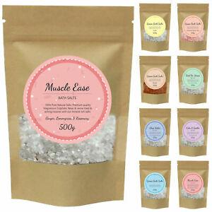 500g Bath Epsom Salt Salts Spa Foot Soak Magnesium Sulphate Muscle Aches Pains
