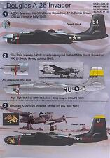 Print Scale Decals 1/72 DOUGLAS A-26 & B-26 INVADER Bomber