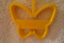 Wilton Butterfly Cookie Cutter 3 1/2 in Plastic Yellow New 2303-116