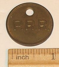 ANTIQUE PENNSYLVANIA RAILROAD PRR WILMINGTON SHOP BRASS TOOL CHECK TAG TRAIN