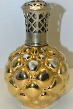 BELLE ANCIENNE LAMPE BERGER DR BOULE D'OR PORCELAINE DE PARIS 1950/51 DOREE XXe