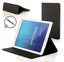 Negro Carcasa Tipo Concha Smart Case funda para Samsung Galaxy Tab Dell 8.0 T375
