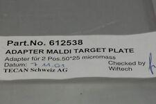 Tecan Freedom Evo 612538 Adapter Maldi Target Plate 2 Position 5025 Micromass