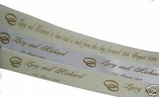 Polyester Personalised Wedding Ribbons & Bows