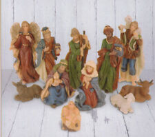 Krippenfiguren Set Weihnachten mit 11 Figuren (bis ca. 10cm)