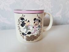 Exclusive Mickey & Minnie Mouse Wedding Day Ceramic Mug Cup Disneyland Paris