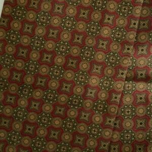 Brown Red Foulard Silk Ascot Cravat