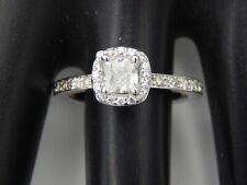1.24 tcw GIA Certified Cushion Cut Halo Diamond Engagement Ring Platinum J/VS