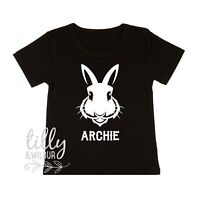 Personalised Easter Bunny T-Shirt, Personalised Easter Gift For Boys, Rabbit Tee