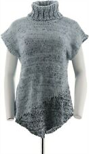 Halston Asymmetrical Pullover Sweater Heather Blue 1X NEW A270229