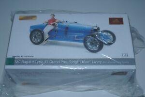 1/18 CMC Bugatti T35 Nation Colour BRIGHT BLUE LIVERY mit Figur CMC M-100 B-018