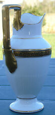 Sarreguemines - Pot à lait en porcelaine, décor de frise grecque, style Empire