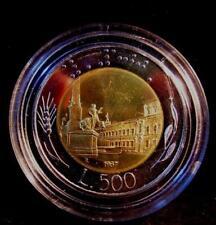 500 Lire Bimetallico  1987  Proof Fondo Specchio