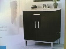 "NIB ~ Nice Bathroom VANITY CABINET & SINK (30""Wx21""D)  Black DriftWood Finish"