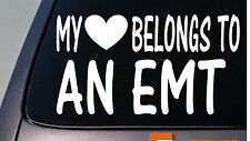 My heart belongs to an EMT sticker decal ambulance *D815*