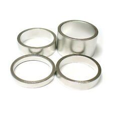 "gobike88 Krex silver alloy spacer for 1-1/8"" headset 4 in 1 set 20/10/7/5mm 283"