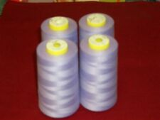 4 CONES 5000 YDS LIGHT LILAC COMETA OVERLOCK SEWING MACHINE THREAD FREE DELIVERY