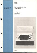 Braun Service Manual für PS 430