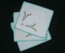 Lot de 3 anciennes serviettes de table, linge ancien