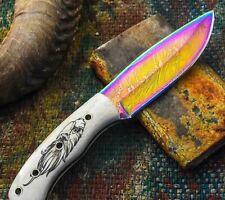 """EAGLE HANDLE"" Custom Handmade Damascus steel Skinner Hunting Knife."