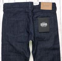 Mens EDWIN ED-55 Jeans W30 L32 Blue Regular Tapered Fit