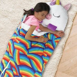 Happy Nappers Sleeping Bag Kids Boys Girls Play Pillow Unicorn Dogs Dragons Cat