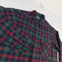 650cef9f0 Vtg PENDLETON Red Black Tartan Plaid Wool Lined Bomber Jacket Men L ...