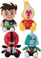 Ben 10 Omniverse Aliens Four Arms Heatblast Diamondhead Figure Plush Stuffed Toy