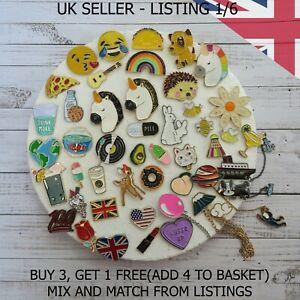 UK Enamel Pins Fashion Cartoon Pin Fun Badge Brooch Metal Mixed Set Enamel DIY