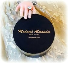 HTF Black Vintage Style Hat Box For Madame Alexander Cissy Doll