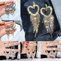 Women Girls Dangle Drop Hoop Earrings Big Geometric Wedding Jewelry Decor