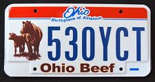 """OHIO """" BEEF COW FARM """" AVIATION """" OH Specialty Graphic License Plate"""