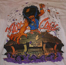 Motley Crue Very Rare 1987 VTG Original Kickin ass On The Wild Side L Tour Shirt