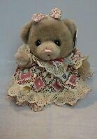 Dan Dee SOFT EXPRESSIONS TEDDY BEAR WITH BOW Stuffed Plush Animal TOY