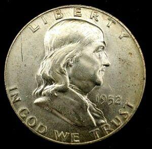 1952-D 50C Franklin Half Dollar BU 90% Silver 21locl0101
