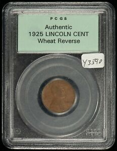 1925 1c Lincoln Wheat Small Cent - OGH PCGS Authentic - SKU-Y3590