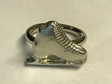 Ice Skate TG108 Fine English Pewter on a Scarf Ring