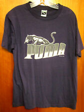 PUMA vtg 1985 large T shirt Fierce Cat rare alternate logo thin tee OG green tag