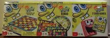 SpongeBob Games 3 Pack Checkers & Tic Tac Toe, Bingo, Go Fish & Crazy Eights