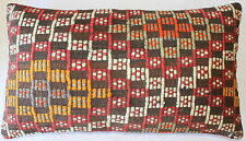 (40*70cm) Turkish handwoven kilim cushion cover natural dyes brocaded
