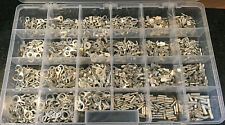 (1200 pc) Non-Insulated Bare Uninsulated Terminal Connector Assortment Kit USA