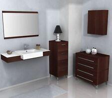 Mobile Bagno sospeso con lavabo da 110 color wengè chiaro scuro per arredobagno