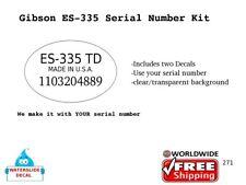 Gibson ES-335 Serial number Guitar Decal Waterslide Restoration 271