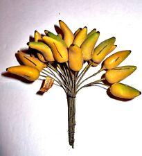 Vtg Craft Cotton Spun Bananas Bunch Corsage Floral New Cond.Czechoslovakia